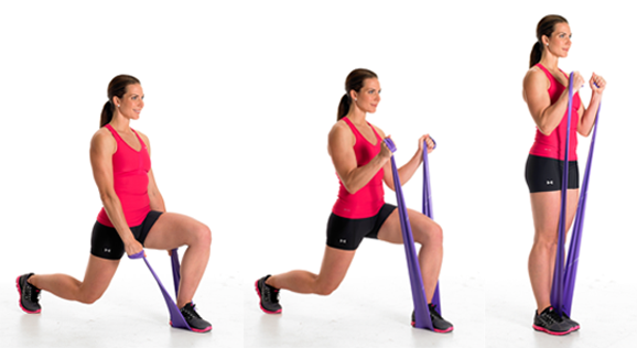 Lunge Resistance Band Workout - Tone Every Inch