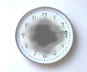 A clock as viewed by someone with AMD