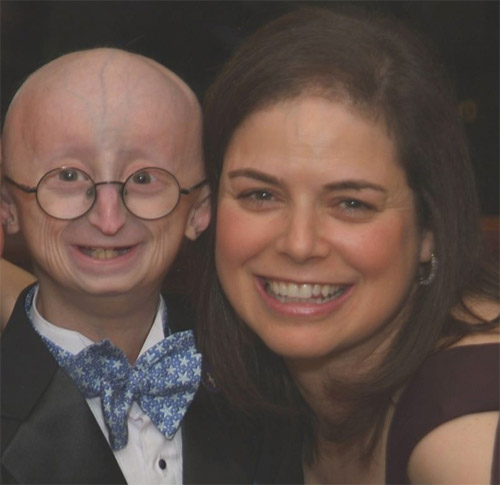Figure 3. Leslie B. Gordon, PhD, and her son Sam, who has Hutchinson-Gilford Progeria Syndrome