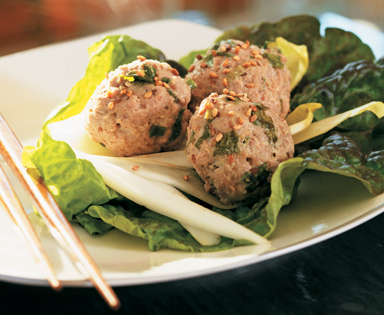 Healthy Slow Cooker Recipe - Low-Carb Sesame Turkey Meatballs