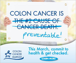 Help the Colon Cancer Alliance tell the world that colon cancer is preventable, treatable and beatable.